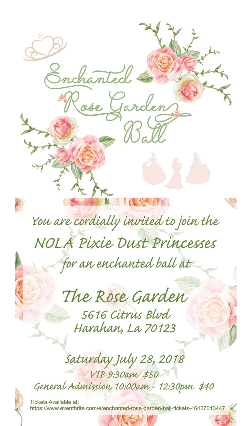 Enchanted Rose Garden Ball Invitation.